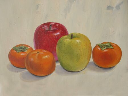 persimmon: Oysters, apple