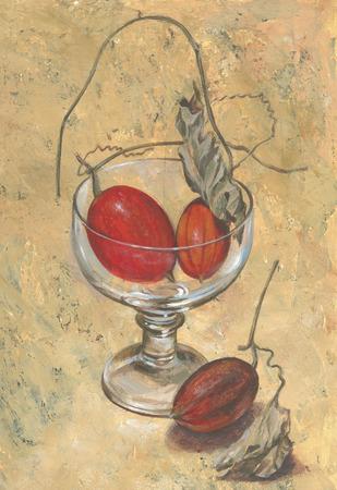 fine art painting: Trichosanthes