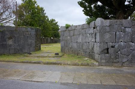ryukyu: Grassy-leaved sweet flag of the entrance of the office marks the Ryukyu Dynasty