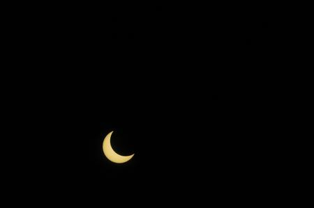 eclipse: Eclipse 07:18:10 Stock Photo