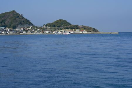 sea port: Morning of Hazama fishing port that was blessed with blue sea