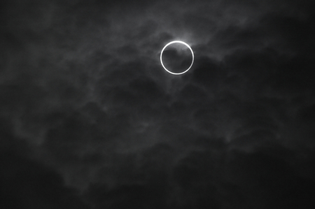 the natural phenomena: The annular solar eclipse 07:38:53 nearly Center