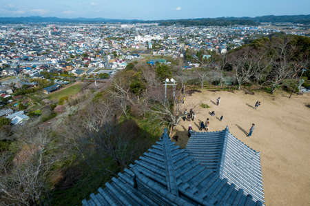 castle tower: View of northeastward from Tateyama Castle tower