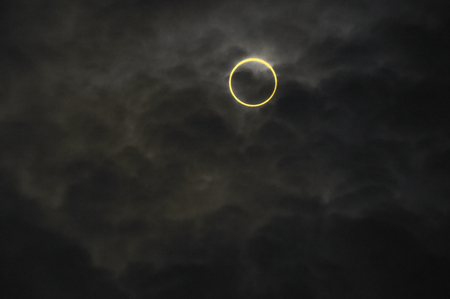 nearly: The annular solar eclipse 07:38:53 nearly Center