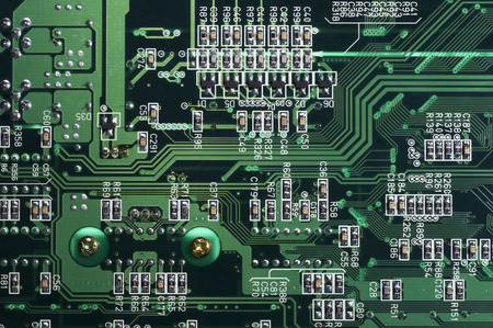 wiring: Back wiring and resistance class of printed circuit board which has digital coloring
