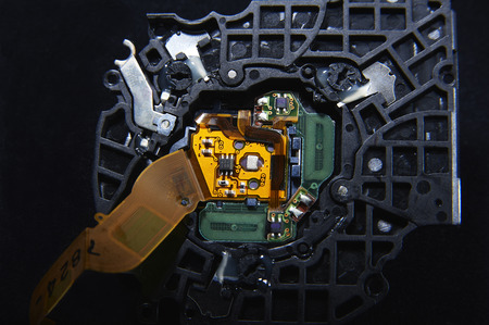 ccd: The back surface of the substrate of the compact digital camera Stock Photo