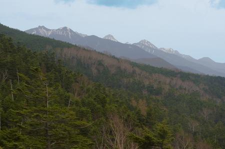seen: View of Yatsugatake seen from Ropuue