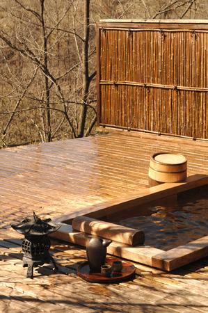 bath: Open-air bath Stock Photo