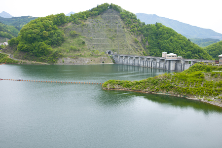dam: Shiokawa dam Stock Photo