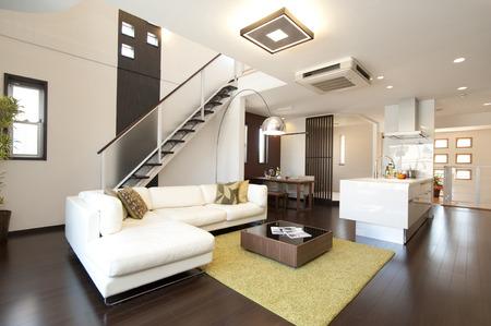 White sofa and living Zdjęcie Seryjne