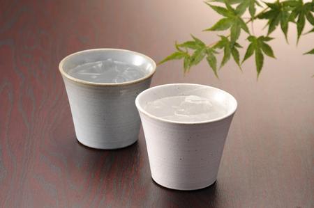焼酎陶器ガラス 写真素材