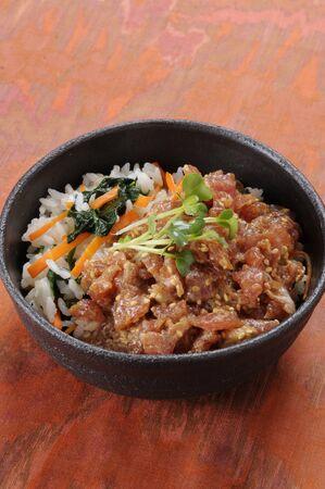 pickled: Sesame pickled bowl of tuna Stock Photo