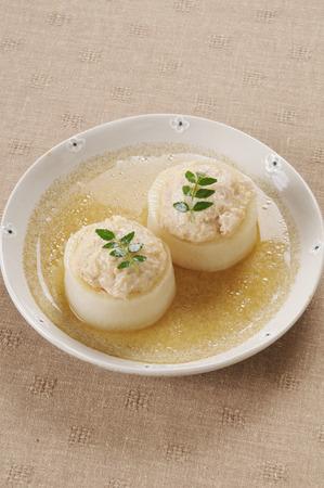 fish sauce: Radish minced fish sauce Stock Photo