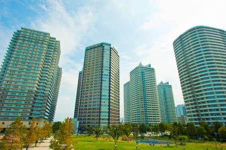 High-rise apartment of Minato Mirai Stock Photo