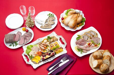 christmas catering: Catering of Christmas Stock Photo