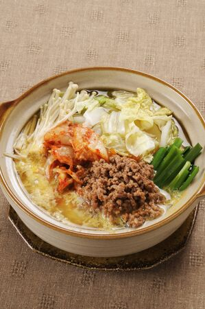 mincing: Kimchi and minced pot