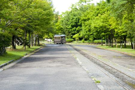 tramway: Horse tramway Stock Photo