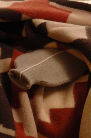 hot water bottle: Hot water bottle and blanket Stock Photo