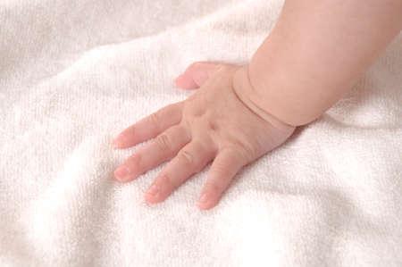 bath towel man: Baby hands