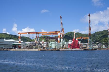nagasaki: Port of Nagasaki shipyard  machinery works