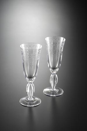 シャンパン グラスをカットします。 写真素材