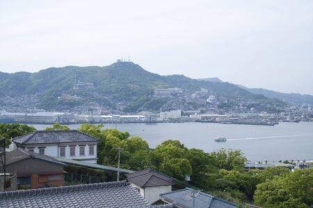nagasaki: Nagasaki Harbour and mount inasa