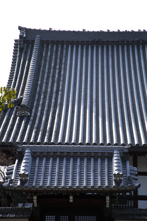 buddhist temple roof: Roof of Oyahon Temple Buddhist sanctum Stock Photo