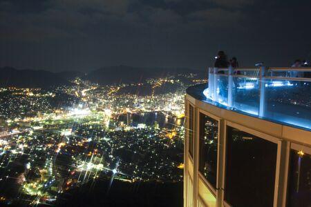 nagasaki: Night view of Nagasaki Stock Photo