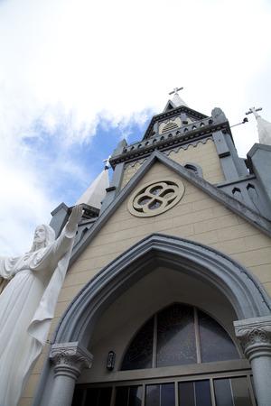 미우라시 카톨릭 교회 스톡 콘텐츠