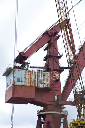 shipyard: Shipyard cranes Stock Photo