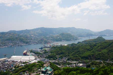 nagasaki: Nagasaki city from Inasayama Stock Photo