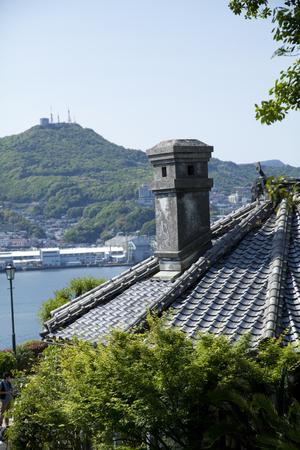 grabber: Nagasaki harbor from Glover Garden Stock Photo