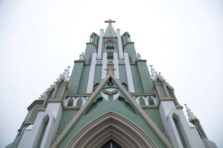 가톨릭 Hirado Church 스톡 콘텐츠