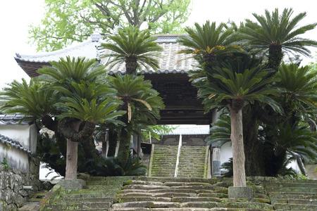 main gate: Main gate of Komyoji Stock Photo
