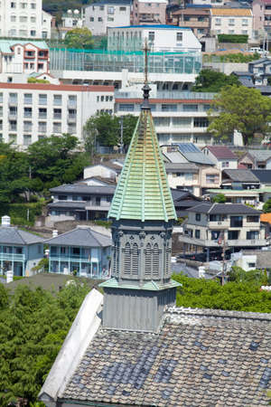 cultural artifacts: Oura Catholic Church and of Nagasaki streets