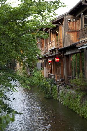shirakawa: Shirakawa Gion Cityscape Stock Photo