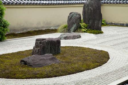 hojo: Dragon source of original before rock garden. Stock Photo
