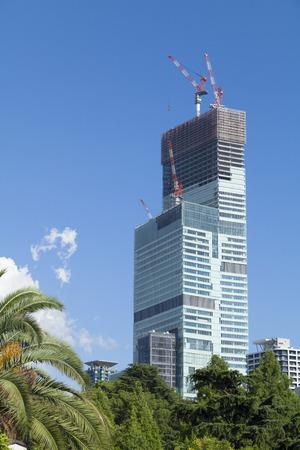 urban redevelopment: Under construction Abeno Harukasu