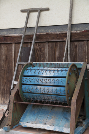 farm implements: Old farm tools Stock Photo