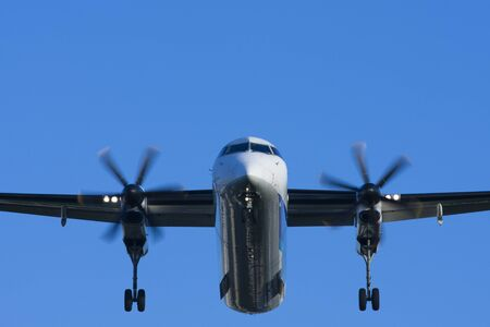 airliner: Airliner of blue sky Stock Photo