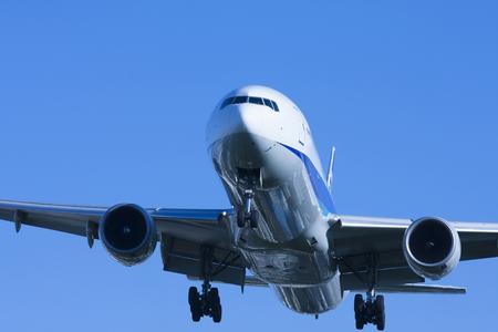 jetliner: Airliner of blue sky Stock Photo