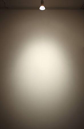 spotlight: white wall in a spotlight Stock Photo