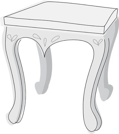 side table: White side table Stock Photo