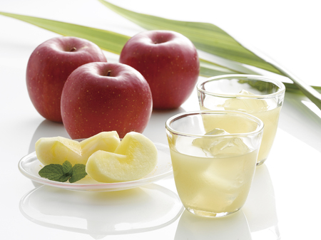 リンゴとリンゴ ジュース 写真素材
