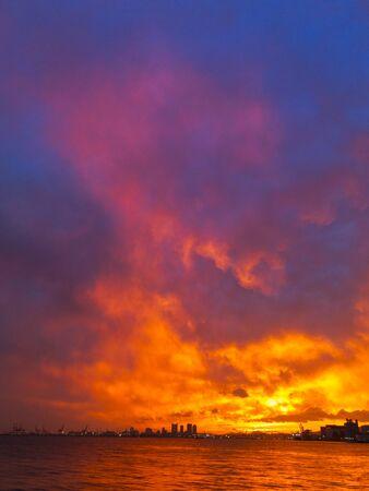 the natural phenomena: Sunset sky