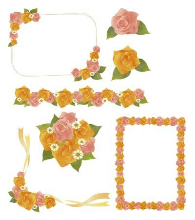 ennui: Roses - Illustration set