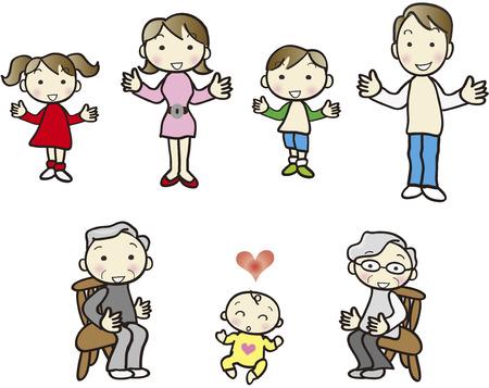 three generations: Family set alone