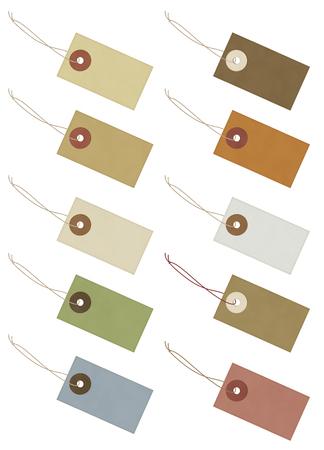 paper tag: Tag - illustration set