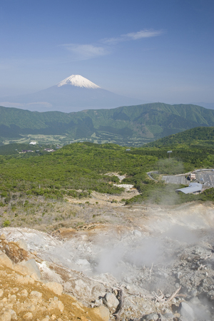 far east: Owakudani y el monte Fuji