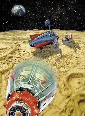 月と宇宙船